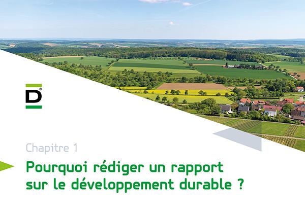 rapport sur le développement durable de DEBATIN | chapitre 1